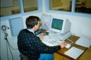 <h5>Test af den nye indretning i 1994.</h5><p>Varslingspladsen.</p>