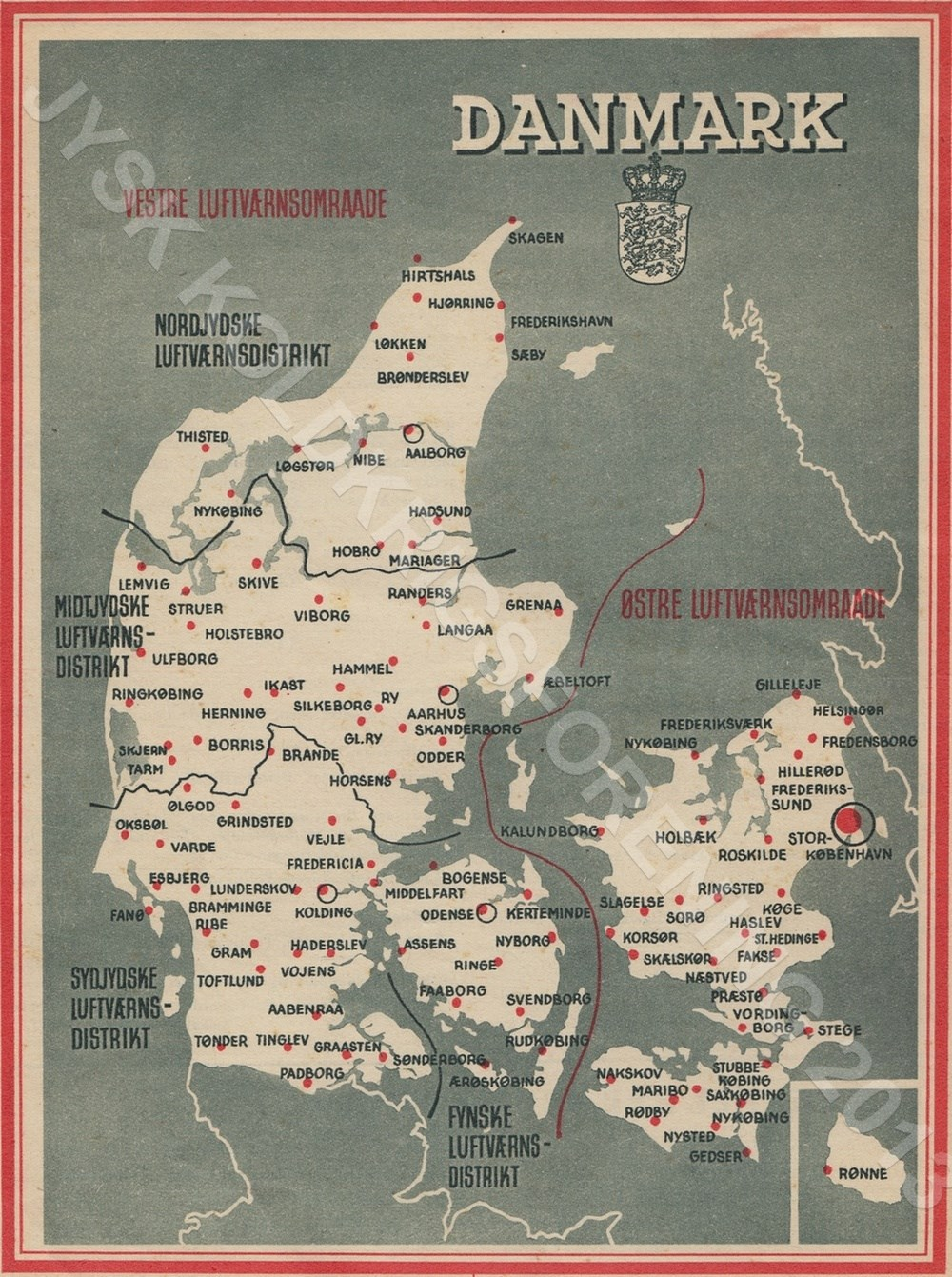 Kort over beskyttelsesbunkere