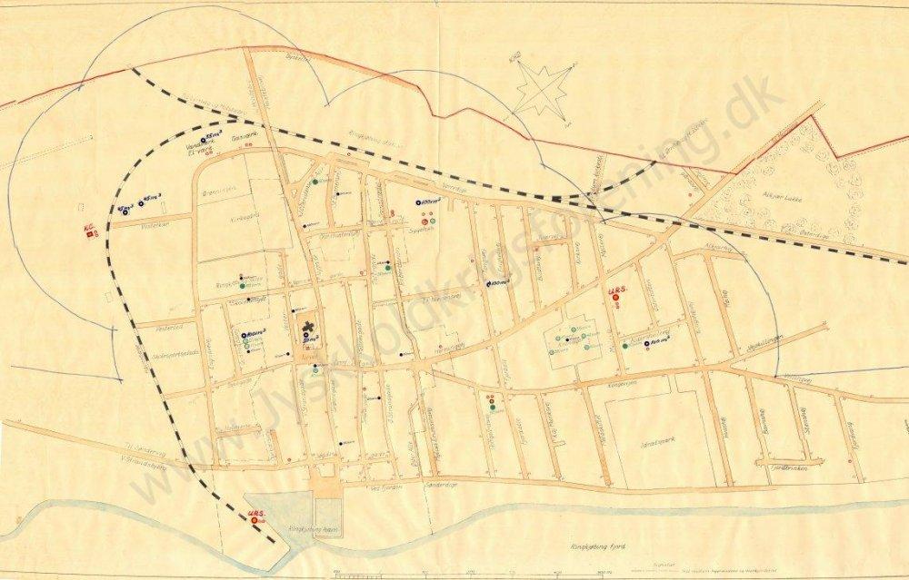 Kort Ringkøbing CF-område 1960
